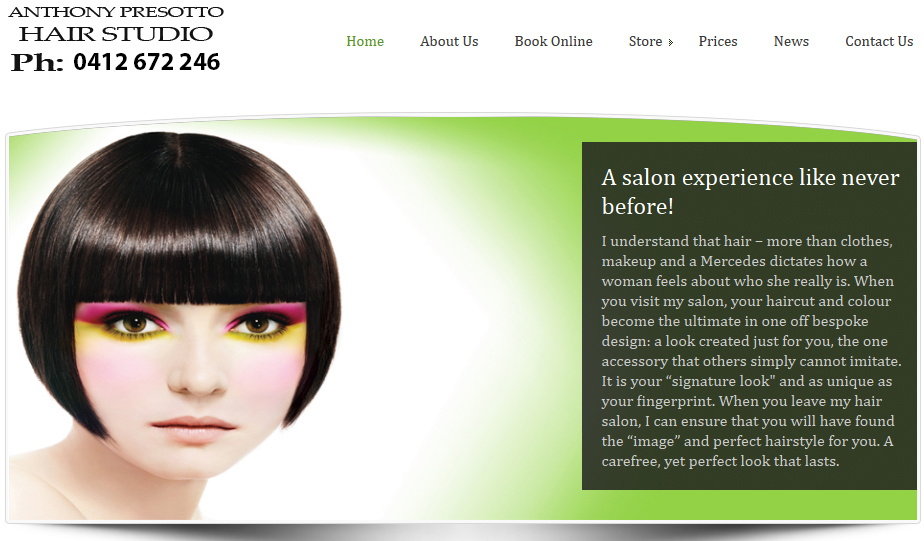 Your Best Source for hairdresser website in Sandgate